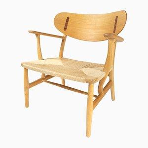 Chaise longue CH22 Mid-Century di Hans Wegner per Carl Hansen