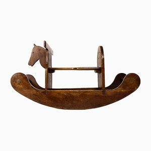 Vintage Folk Art Rocking Horse