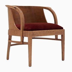 Chaise Contreplaquée Art Déco Scandinave, 1930s