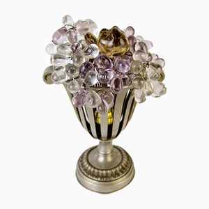 Art Deco Tischlampe mit Obst aus Glas