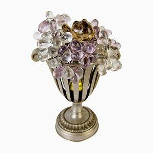 Lámpara de mesa Art Déco con frutas de vidrio
