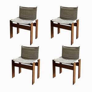 Mid-Century Monk Dining Chairs by Tobia & Afra Scarpa for Molteni, 1973, Set of 4