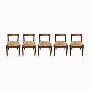 Chaises de Salon Mid-Century Carimate par Vico Magistretti pour Cassina, 1963, Set de 5