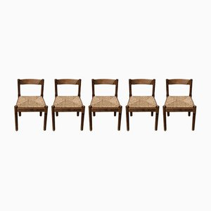 Mid-Century Carimate Dining Chairs by Vico Magistretti for Cassina, 1963, Set of 5