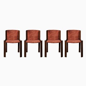 Mid-Century 300 Dining Chairs by Joe Colombo for Pozzi, 1966, Set of 4