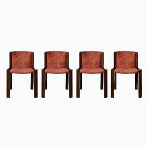 Mid-Century 300 Esszimmerstühle von Joe Colombo für Pozzi, 1966, 4er Set