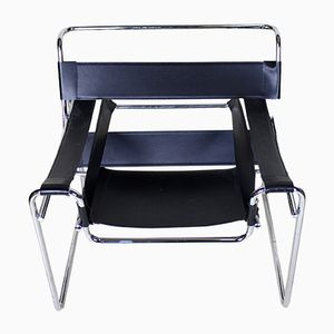 Vintage Chrome and Leatherette Chair, 1970s