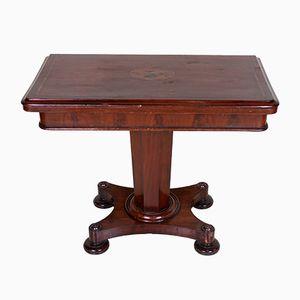 Mesa para cartas plegable victoriana antigua de caoba