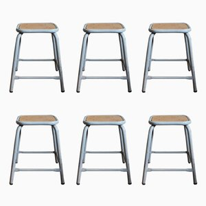 Vintage Industrial Military Stools, Set of 6