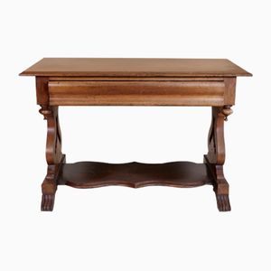 Antique Victorian Mahogany Console Table, 1880s