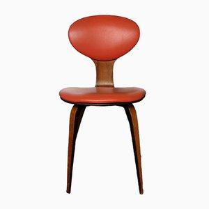 Vintage Beistellstuhl aus Nussholz von Norman Cherner für Plycraft, 1960er