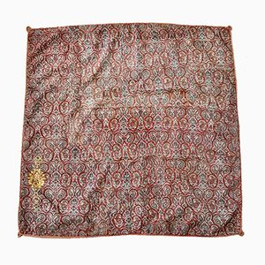 Handgewebtes antikes Textilgewebe mit Wappen
