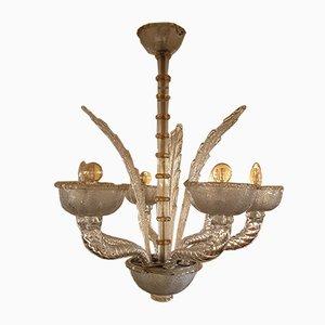 Lampadario vintage in vetro di Murano