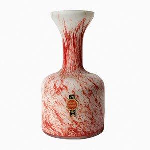 Vaso in vetro di Opaline Florence, anni '70
