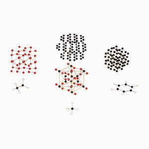 Structures Moléculaires Vintage, 1950s, Set de 7