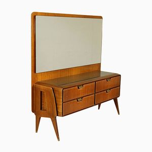 Vintage Italian Mahogany Dressing Table, 1950s