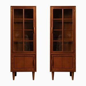 Vintage Danish Teak Cabinets from Dyrlund, Set of 2
