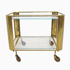 French Art Deco Brass Bar Cart, 1930s