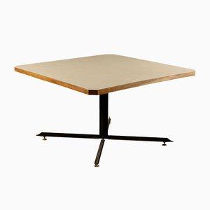 Tisch aus Holz, Resopal, Metall & Messing, 1960er