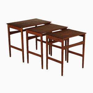 Tavolini ad incastro di Hans J. Wegner per Andreas Tuck, anni '60