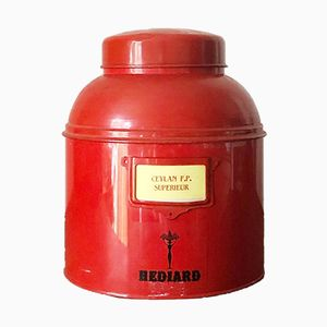 Mid-Century French Tea Caddy Tin from Hediard