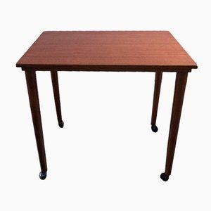 Teak Side Table on Castors, 1960s