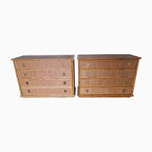 Wicker Chests of Drawers from Dal Vera, 1960s, Set of 2