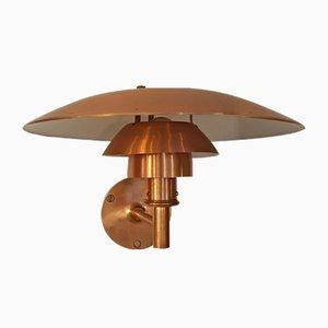 PH 4-5/3 Wandlampe aus Kupfer von Poul Henningsen für Louis Poulsen, 1980er