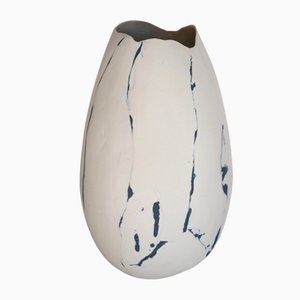 Vase en Porcelaine Nériage Bleu-Noir par Elsa Dinerstein