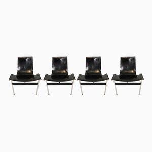T-Stühle von W. Katavolos, Douglas Kelly & Ross Littel für ICF, 1960er, 4er Set