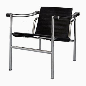 LC1 Armchair by Le Corbusier, Perriand, & Jeanneret for Cassina, 1980s