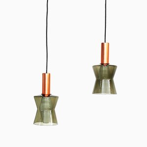 Lámparas colgantes de Tapio Wirkkala para Idman, años 60. Juego de 2