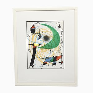 The Moon Color Lithograph by Joan Miro, 1972