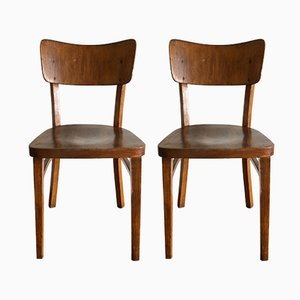 French Bistro Chairs from Thonet and Baumann, 1940s, Set of 2