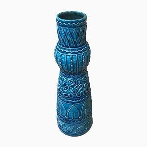 Italian Turquoise Ceramic Vase from Fratelli Fanciullacci, 1960s