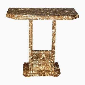 Mesa consola Art Déco de mármol, años 30