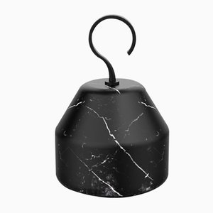 Pietra L Collection 06 Door Stop in Nero Marquinia Marble by Piero Lissoni for Salvatori