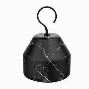 Sujetapuertas Pietra L colección 06 de mármol Nero Marquina de Piero Lissoni para Salvatori
