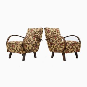 Vintage Armchairs by Jindřich Halabala, 1950s, Set of 2