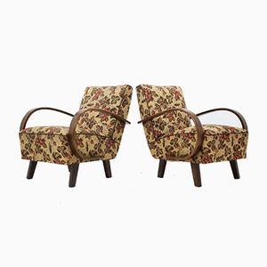 Vintage Stühle von Jindřich Halabala, 1950er, 2er Set