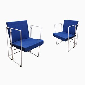 Vintage Minimalist Folding Chairs, Set of 2