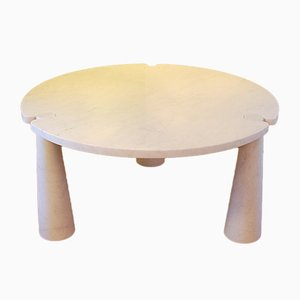 Tavolo da pranzo Eros rotondo in marmo di Angelo Mangiarotti per Skipper, anni '70