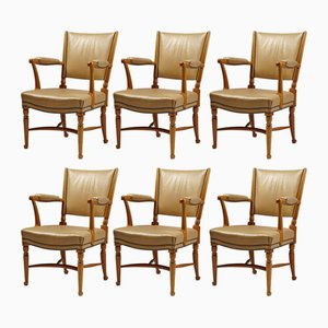 Model 725 Chairs by Josef Frank for Svensk Tenn, 1938, Set of 6