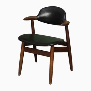 Mid-Century Dutch Cowhorn Chair by Tijsseling for Hulmefa Nieuwe Pekela