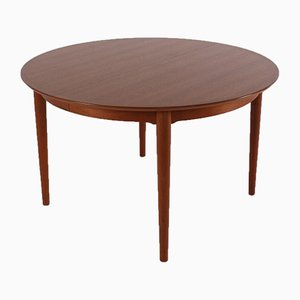 Round Model 204 Extendable Table by Arne Vodder for Sibbast, 1970s