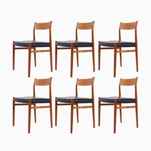 Model 418 Dining Chairs by Arne Vodder for Sibast, 1970s, Set of 6