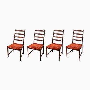 Skandinavische Vintage Esszimmerstühle, 1960er, 4er Set