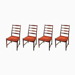 Vintage Scandinavian Dining Chairs, 1960s, Set of 4