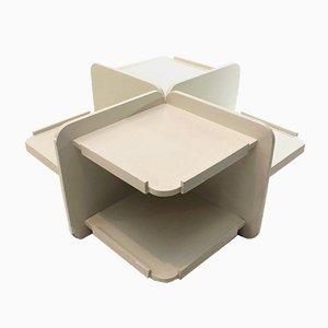 Tavolino Mid-Century con mensole, anni '60