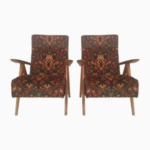 Französische Vintage Armlehnstühle, 2er Set